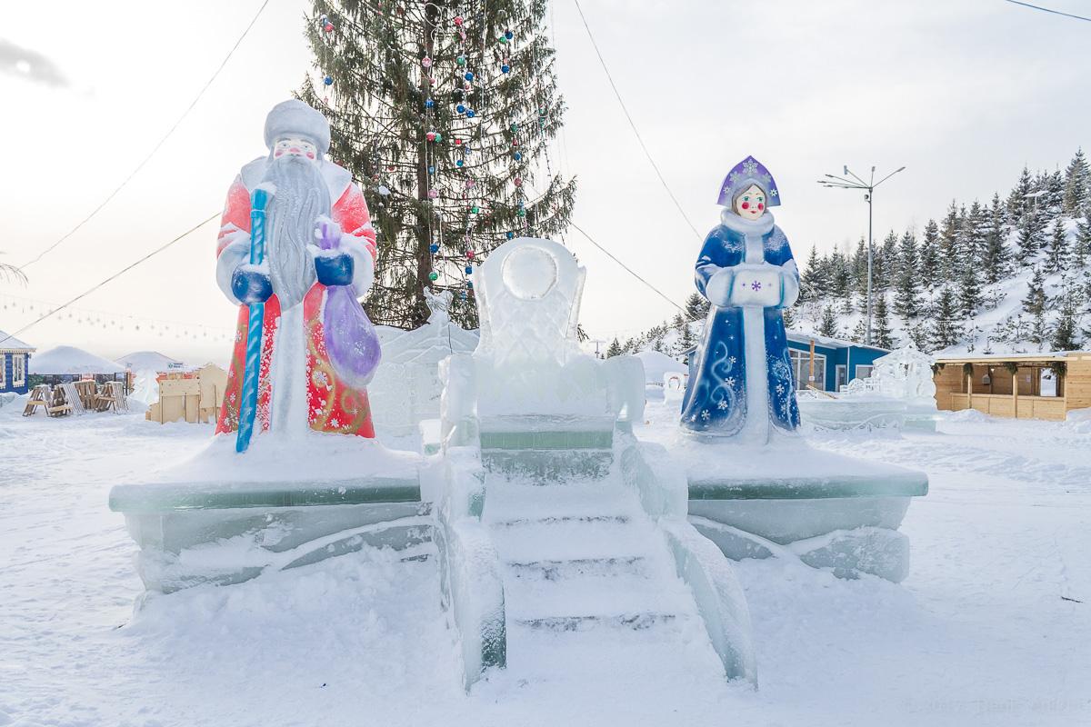 Парк Ватан Уфа зима фото 10