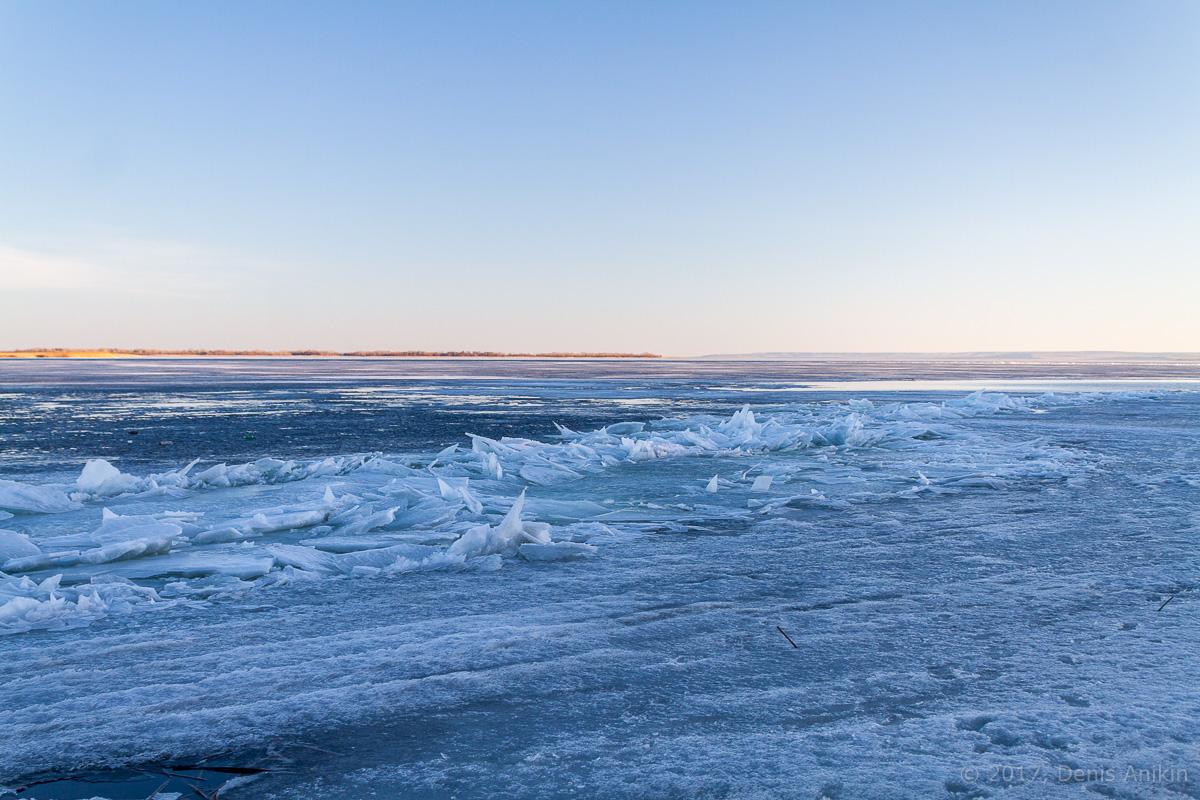Волга весна лёд фото 8