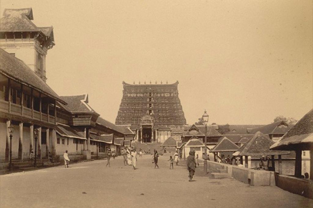 Храм Падманабхасвами в 1890 году / Фото: Wikimedia
