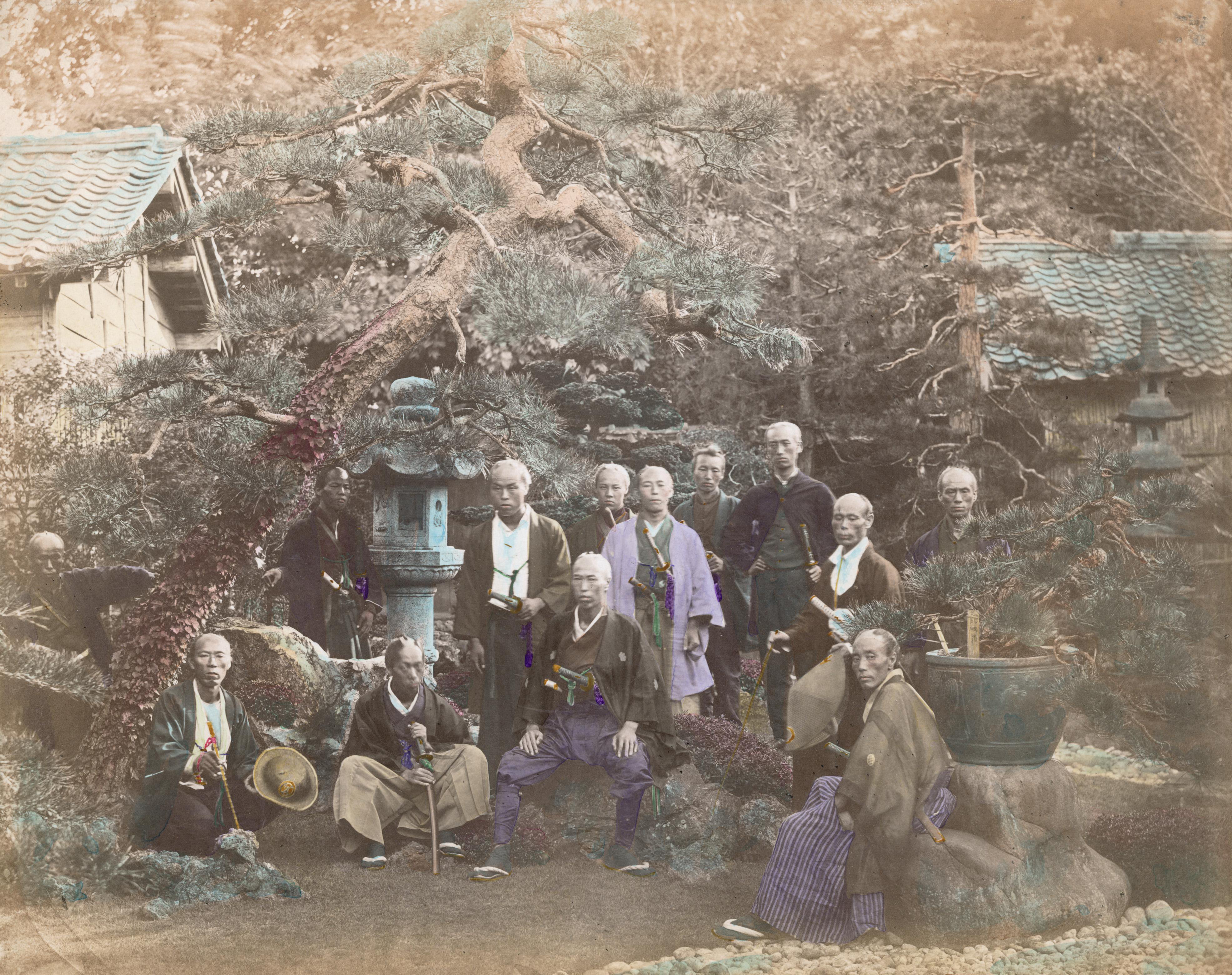 Группа офицеров на службе принца с севера Японии. Примерно 1865