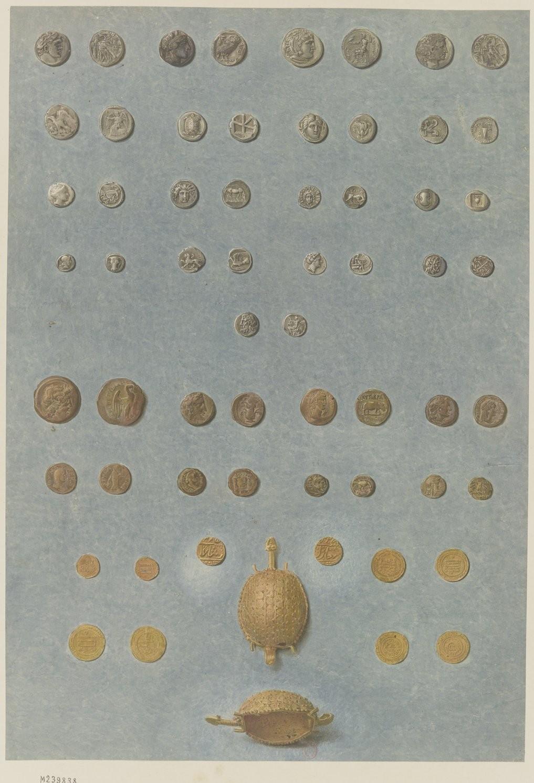 Античная коллекция. Монеты и золотая черепаха