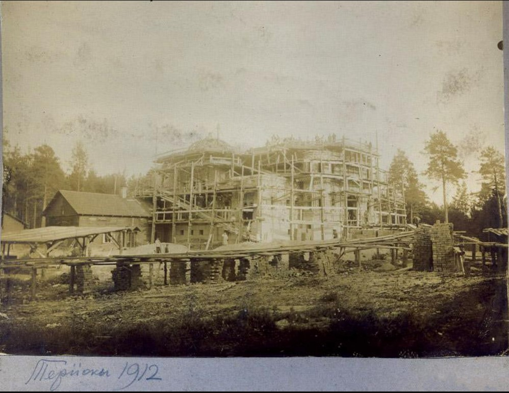 Строительство православного храма в Терийоках, 1912