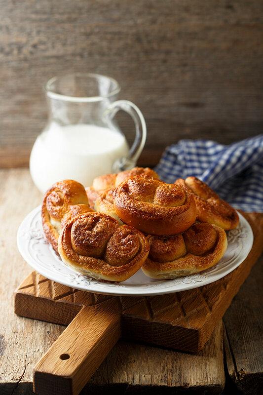 Коричные булочки по старому немецкому рецепту (Brillen)