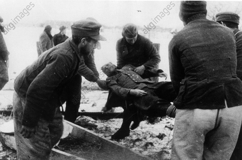 Tscherkassy 1944/Leiche Gen.Stemmermann - Cherkassy / 1944 / Wilhelm Stemmermann -