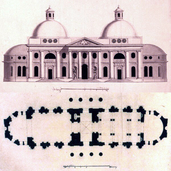 План церкви Казанской иконы Божией Матери, усадьба Чернышевых