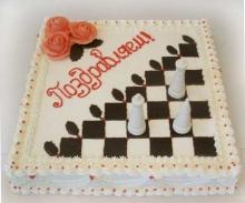 Международный день шахмат. Поздравляю! Шахматы-торт