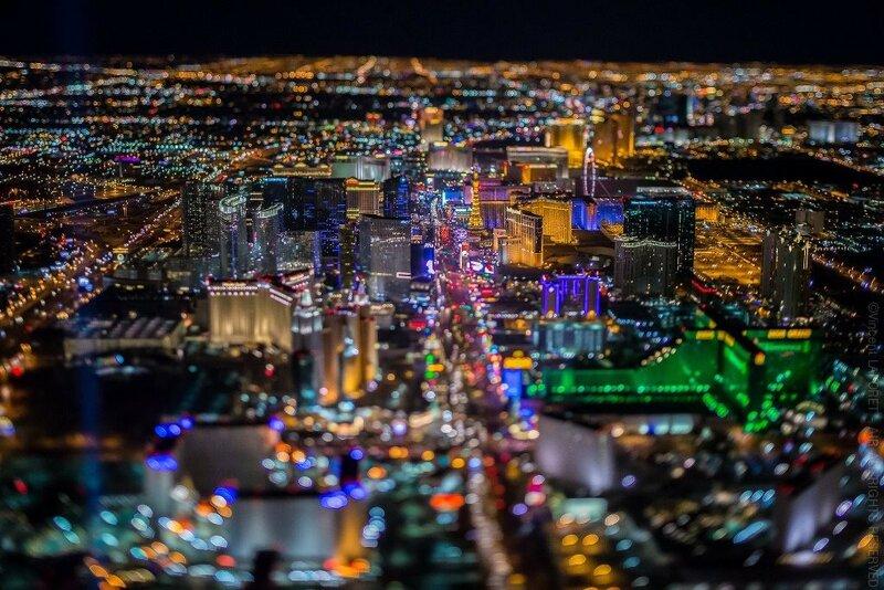 Ночной Лас-Вегас с высоты