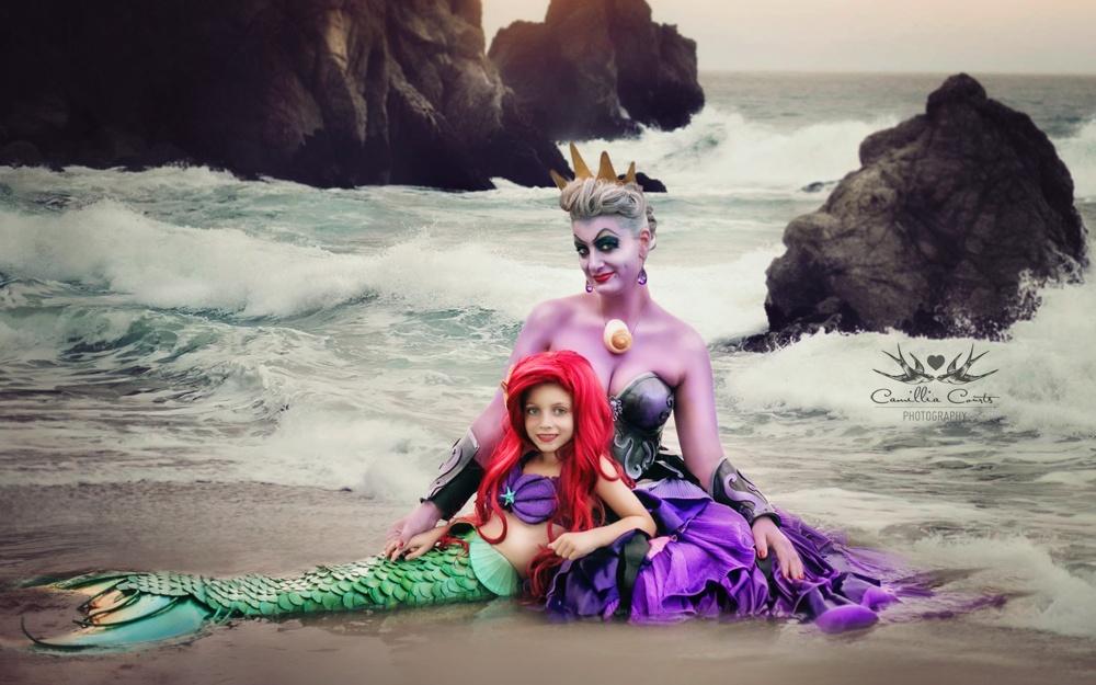 Ихлюбимой фотосессией стала «Русалочка», где Лейла перевоплотилась вАриэль, аКамилла— вУ