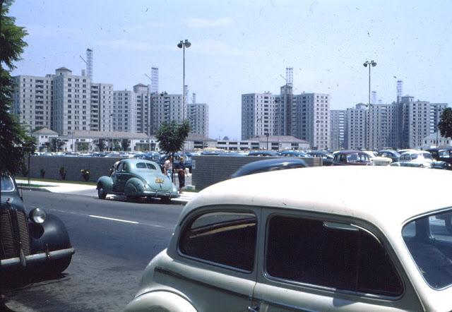 Строительство жилья в районе Park La Brea, 1948 год.
