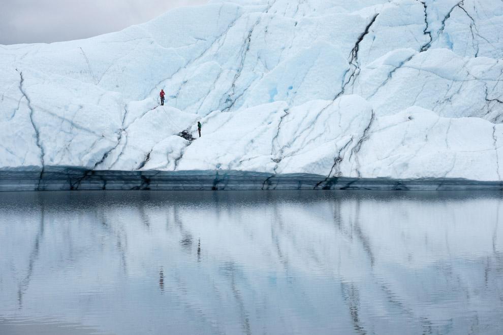 3. Ледник Уортингтона находится в самой снежной части Аляски, неподалёку от Томпсон Пасс. Его л