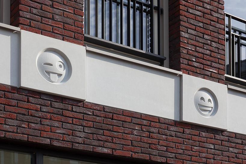 Здание со смайликами на фасаде в Голландии (8 фото)
