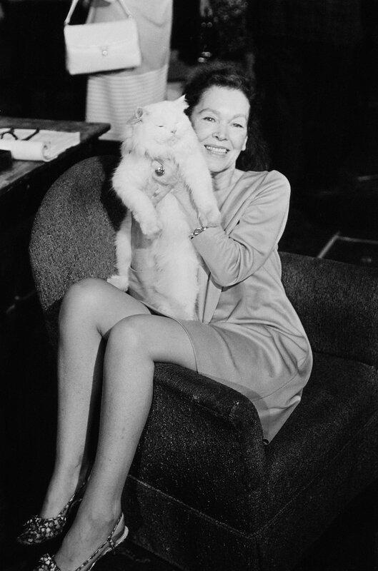 La actriz Maureen O'Sullivan fotografiada en 1967