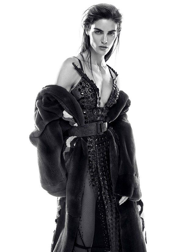 Supermodel Hilary Rhoda Dazzles for Iris Covet Book Cover Story