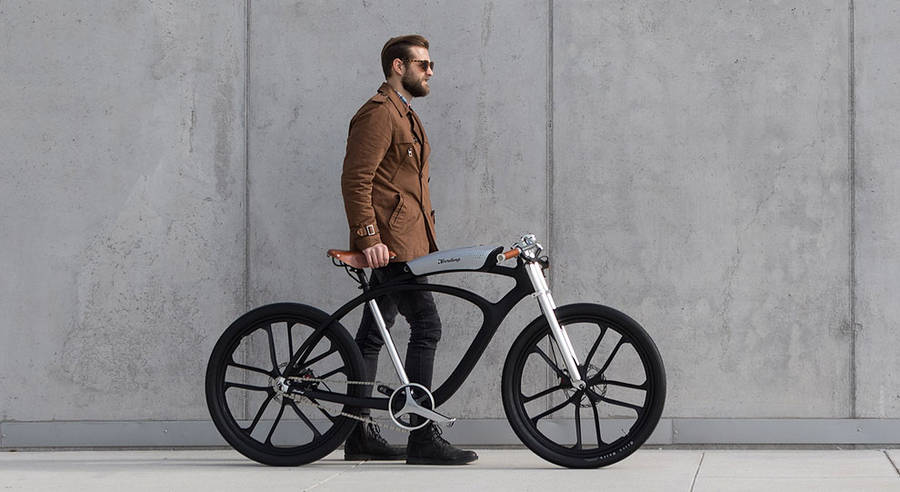 Smart Electric Bike Made with Portable Battery (7 pics)
