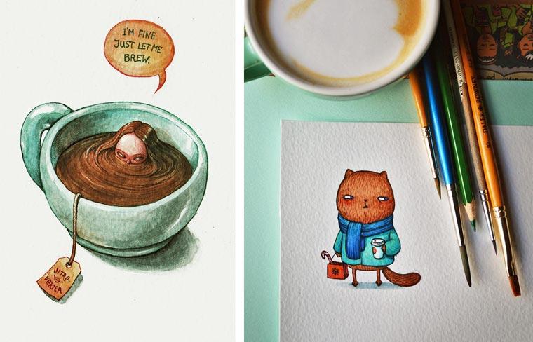 Artoxication - The new soft and poetic illustrations by Maria Tiurina