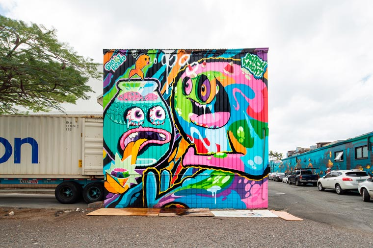 Street Art - A selection of the awesome creations from the POW! WOW! Hawaii 2016