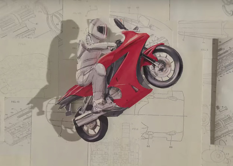Honda Paper: Stop-Motion Animation by PES