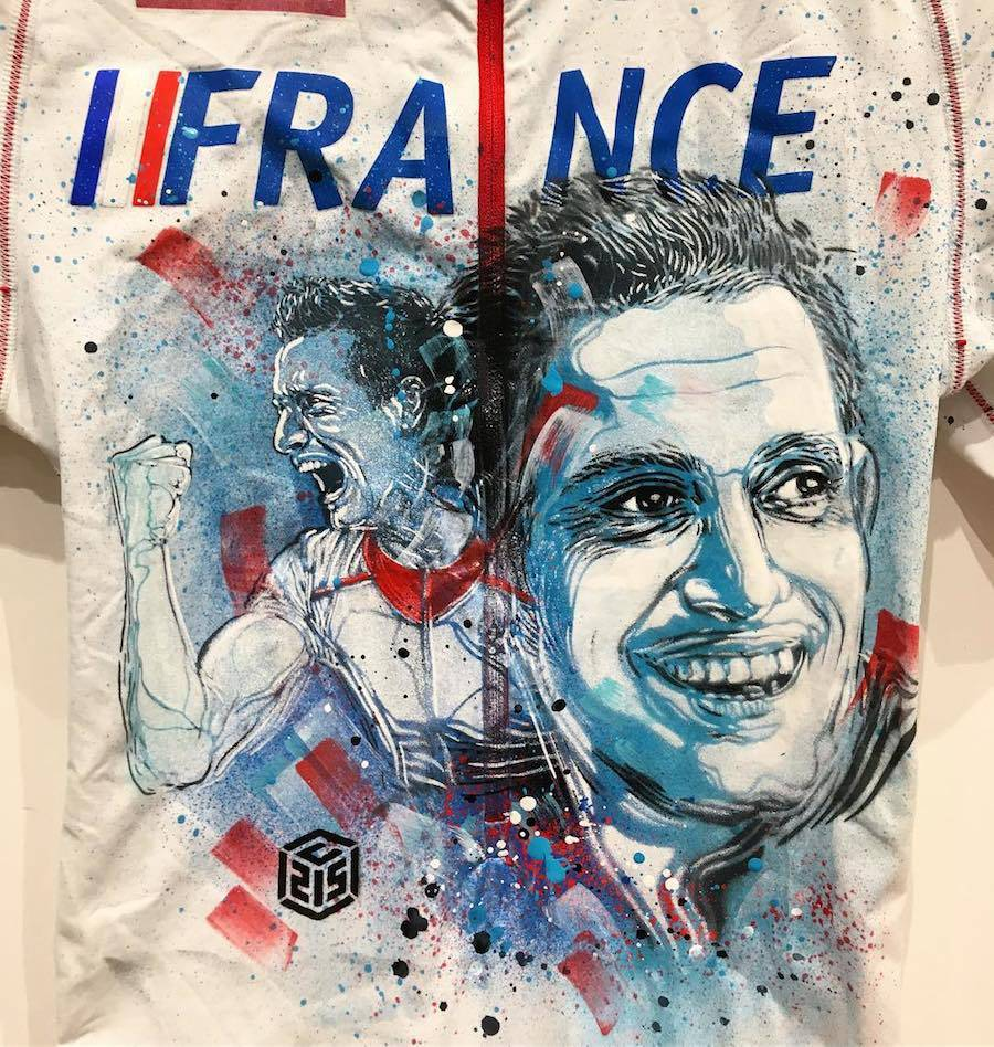 New C215 Stencil Exhibition About Athletes in Nice, France