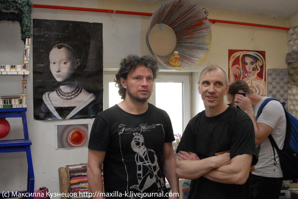 Художники в мастерской