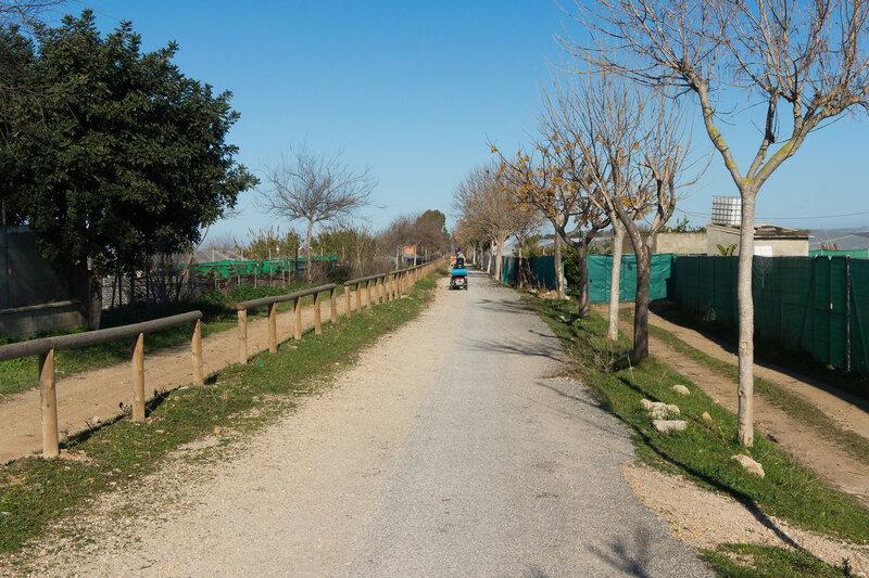 велодорожка Рота - Чипиона - Санлукар Camino natural via verde de Chipiona