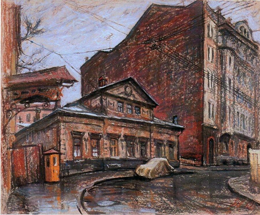 Е. Куманьков. Кривоарбатский переулок. 1963 г..jpg