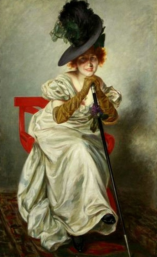 Portrait of a Victorian lady with feathered hat.jpg