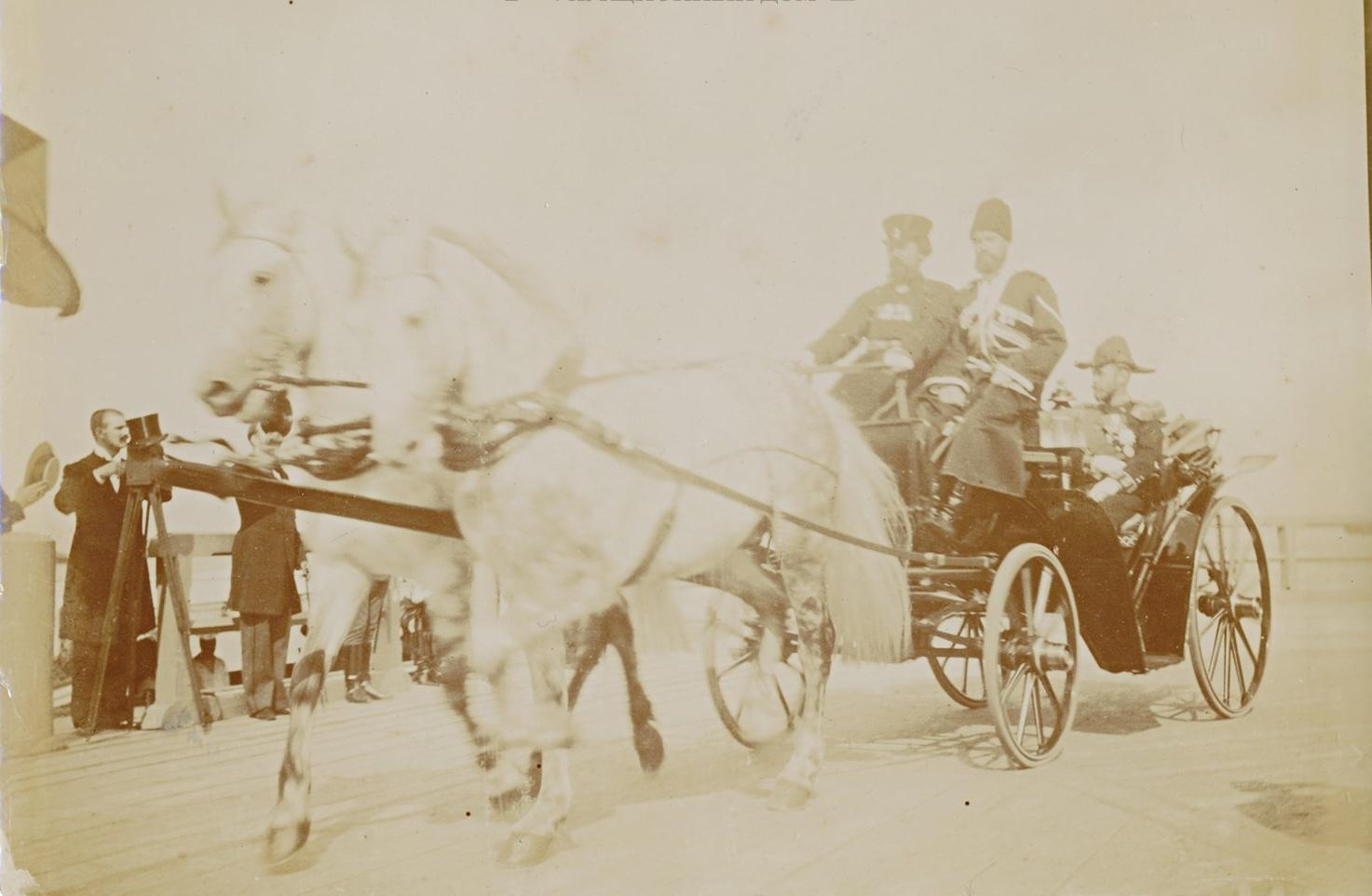 Император Николай II и президент Французской республики Феликс Фор