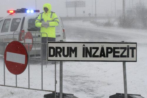 Дорога и порт на юге Молдовы закрыты из-за погодных условий