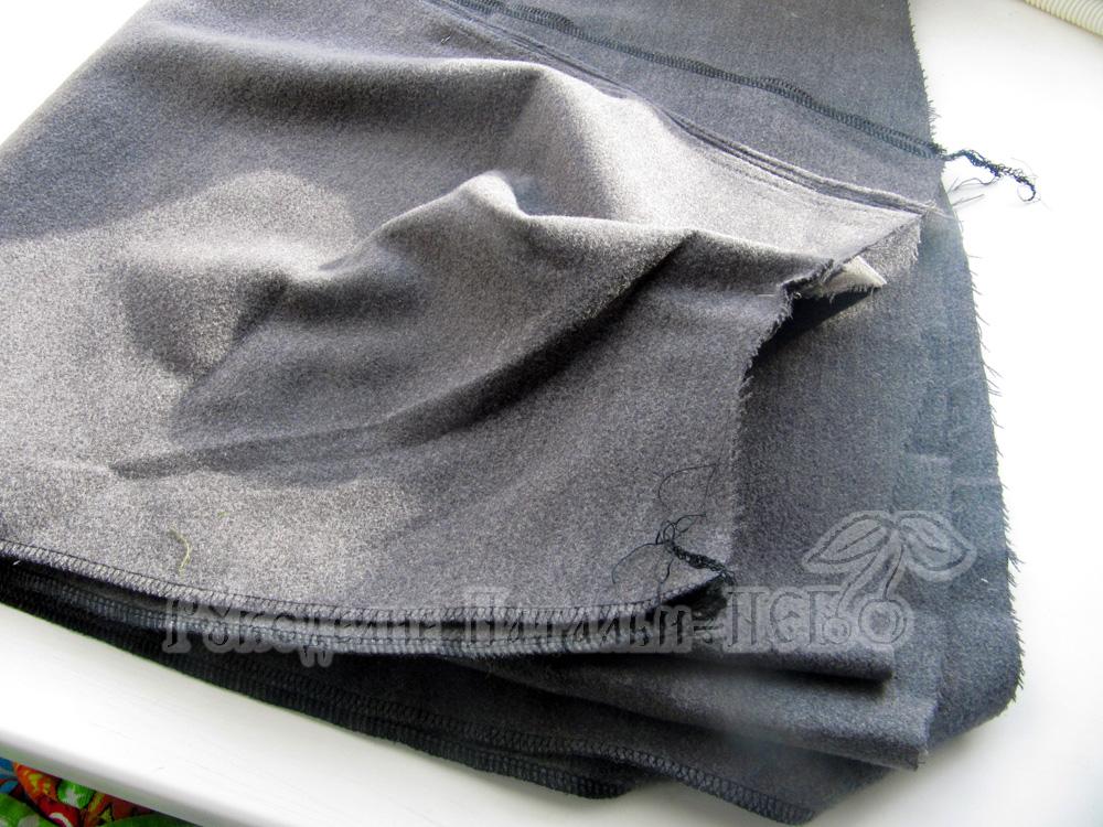 зимняя юбка из драпа