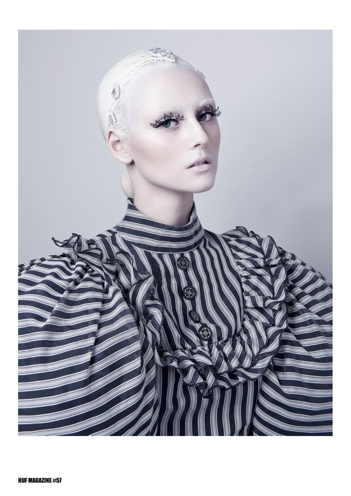 Монохром MONOCHROMATISM для HUF Magazine/ Photography Alena Sazonova Model Jenna Karan