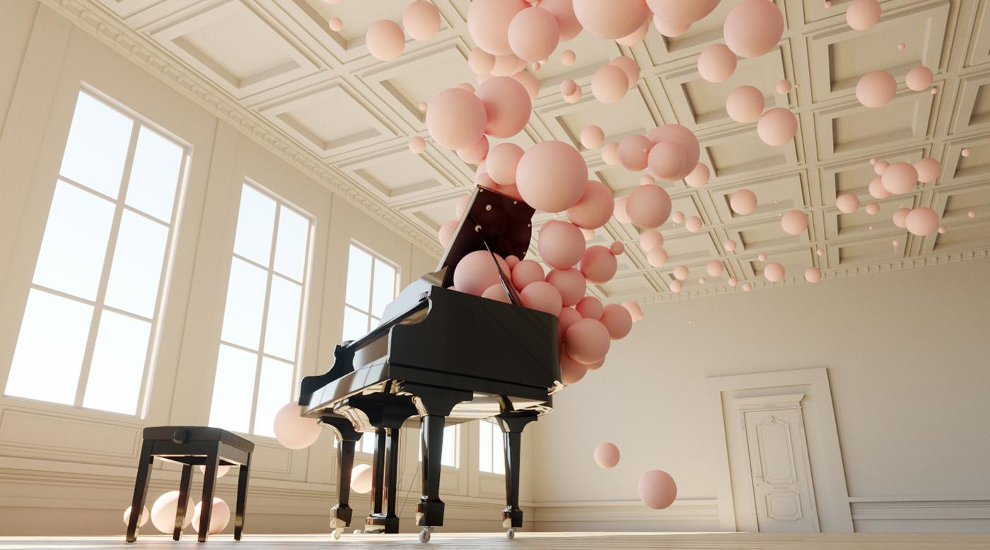 Розовые шарики - Filling Spaces / Federico Picci