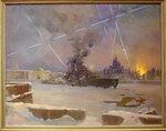 Заколодин-Митин Алексей Иванович. Зенитки на Неве (Воздушная тревога). 1942