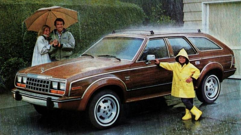 AMC Eagle Wagon '1984 1985 год ознаменовал фейслифтинг, в ходе которого поменялись решетка рад