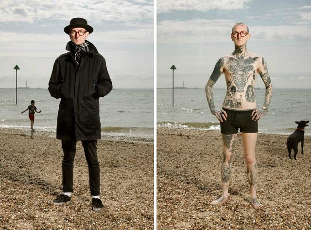1. Филип, 27 лет, Саутенд-он-Си. «Мне было 17, когда я сделал первую татуировку. Я долго прятал ее о