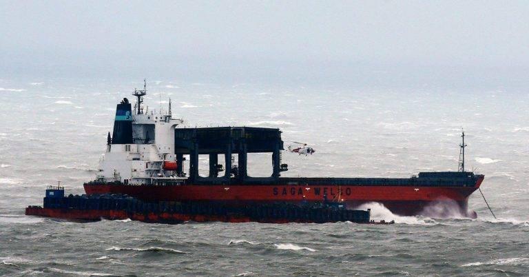 ВЛа-Манше сухогруз потерпел крушение из-за шторма «Ангус»