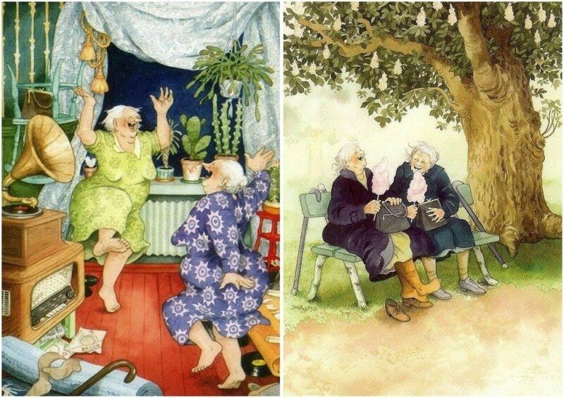 Финские старушки— художница-иллюстратор Инге Лёёк