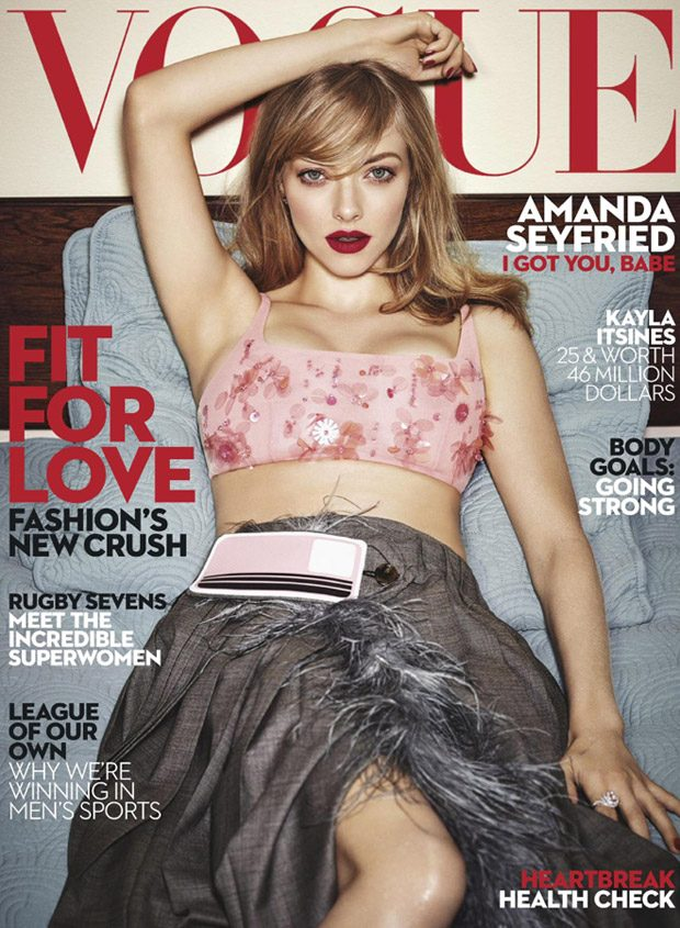 Amanda Seyfried is the Cover Star of Vogue Australia February 2017 Issue