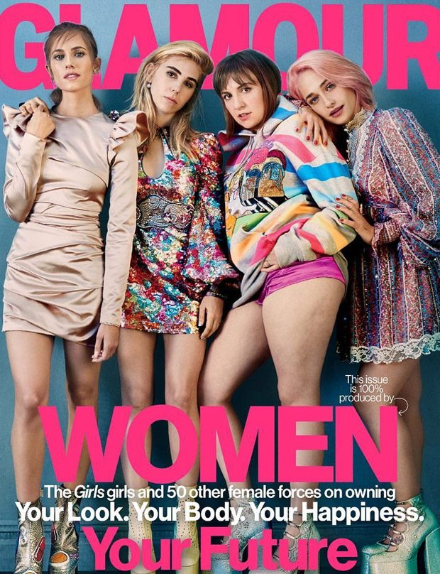 Girls Cast Star in American Glamour February 2017 Cover Story