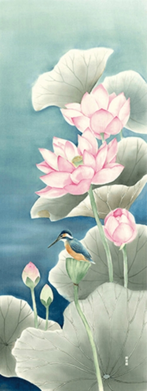 Японские рисунки на хлопчатобумажных тканях