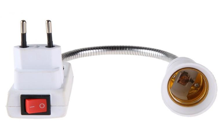 ЕС Plug E27 Ламповый Адаптер