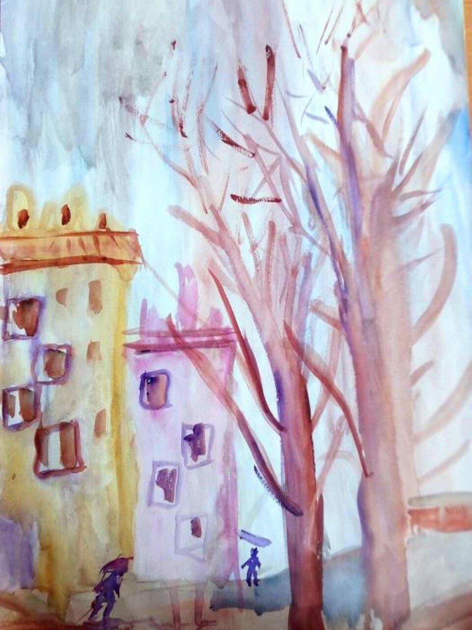 Наступление весны - Якушева Юлия, 11 лет, Тема -- Рисунок, г. Волжский.jpg