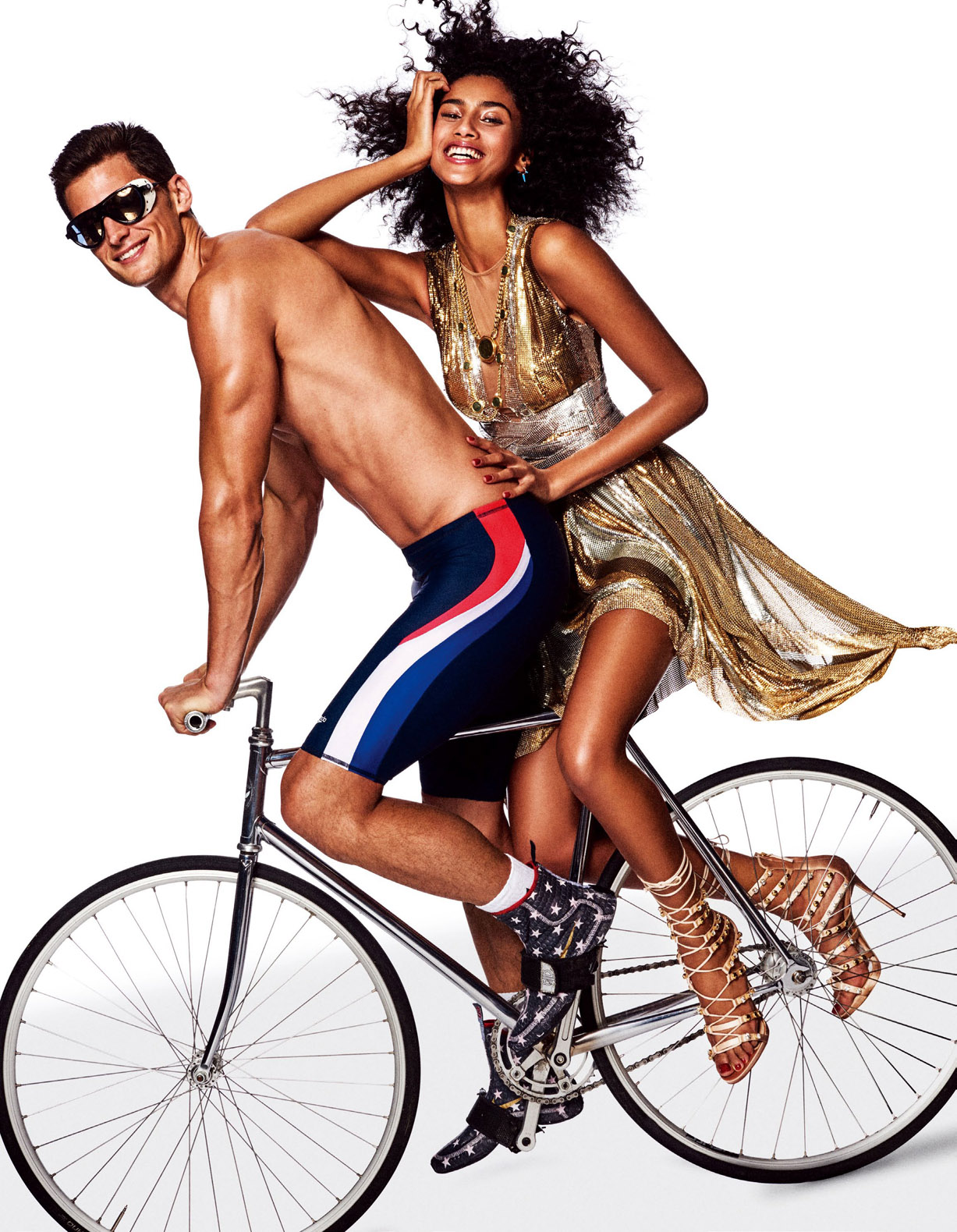 спортивная и гламурная Имаан Хаммам / Imaan Hammam, Garrett Neff, Jon Kortajarena by Giampaolo Sgura - Vogue Japan May 2017