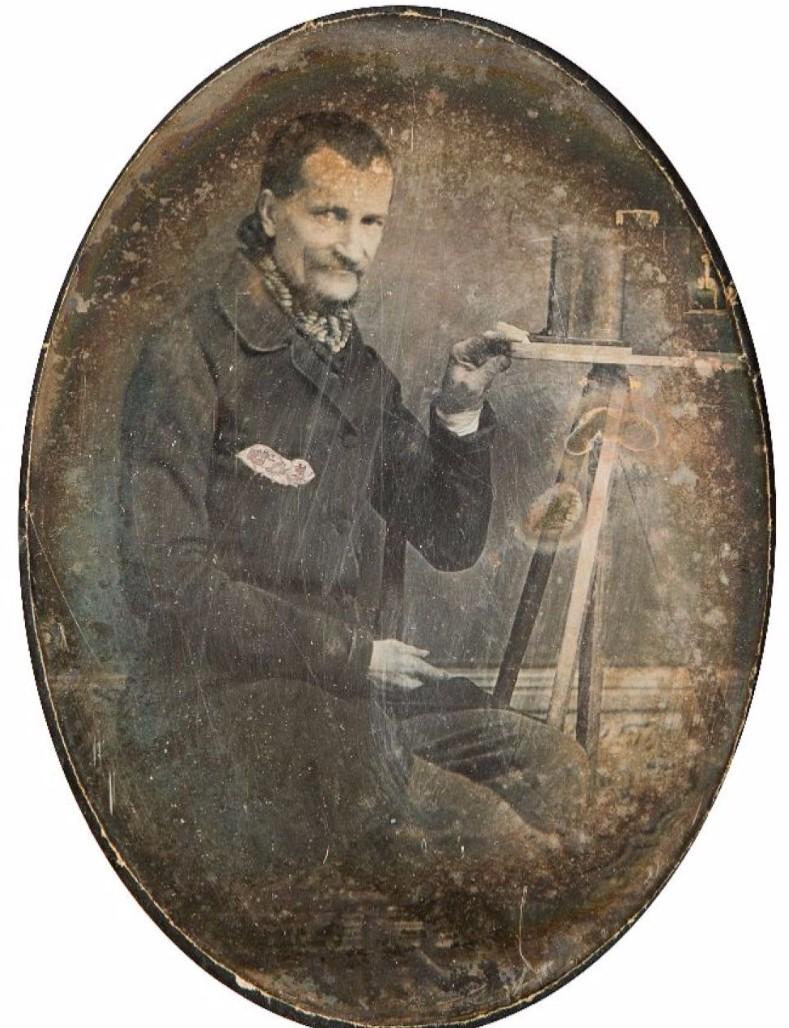 1845. Автопортрет дагеротиписта