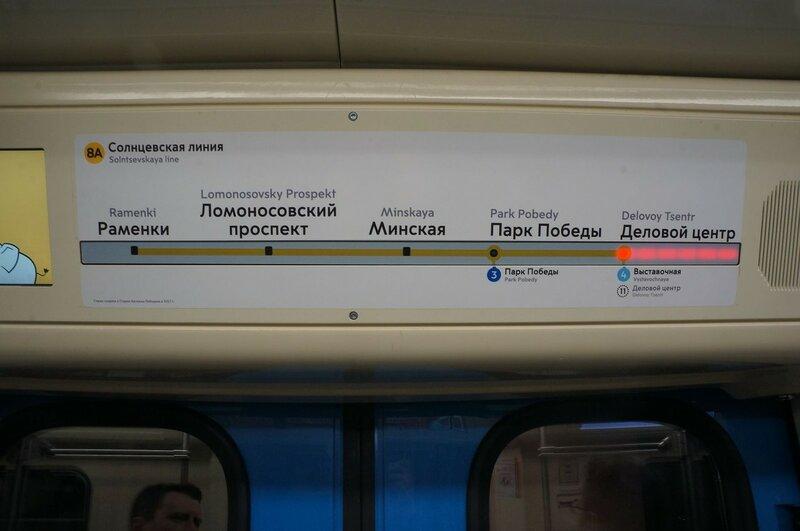 Указатель станций на линии