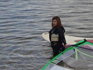 Винд и SUP! Девушки с веслом!