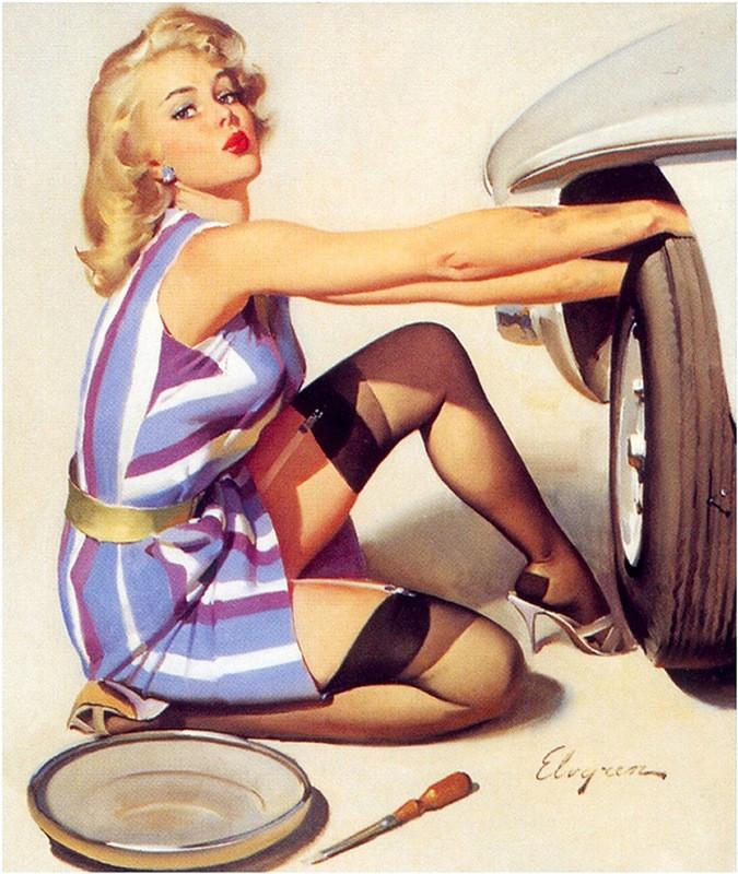Девушки, машины, и классики пин-апа