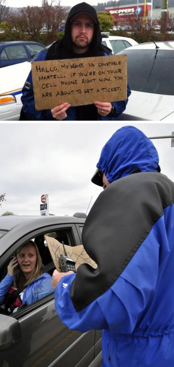 7. Полицейские переодеваются бродягами, чтобы обнаружить «текстовых нарушителей» В городе Чилливак,