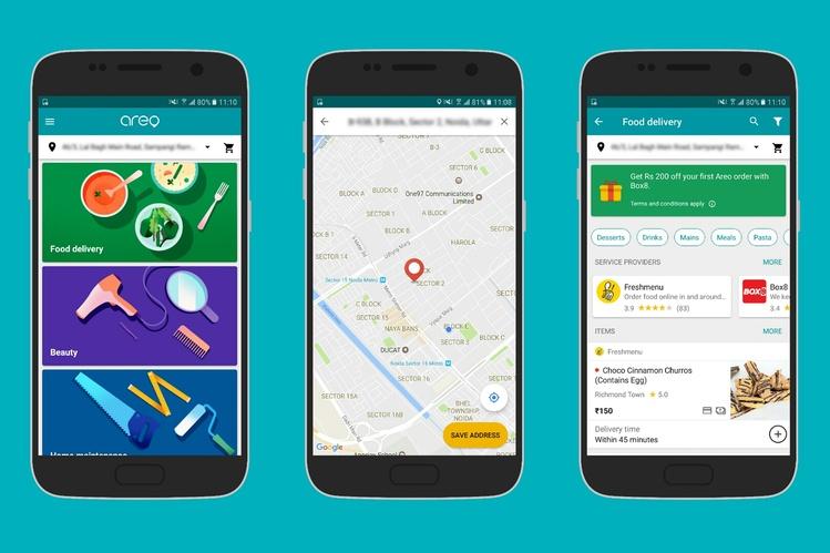 Новое приложение Google Areo может заказать как еду, так исантехника
