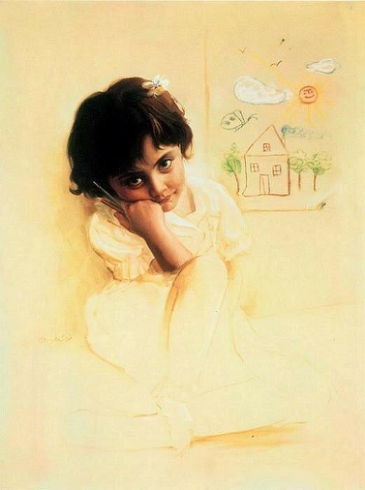 Иранская художница Митра Шадфар (Mitra Shadfar)
