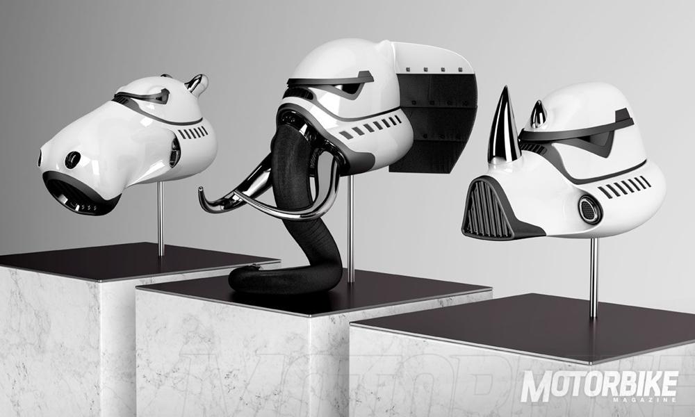 Концепты мотошлемов Блэнка Уилльяма:  Звездные Войны + животный мир